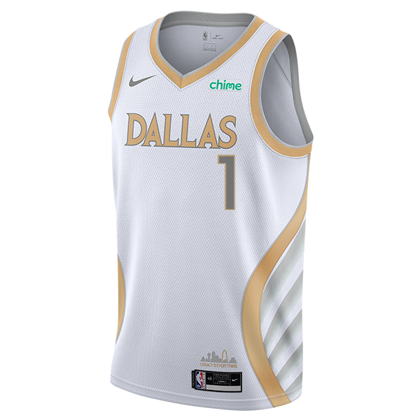 DALLAS MAVERICKS NIKE TYRELL TERRY 20-21 CITY EDITION SWINGMAN JERSEY