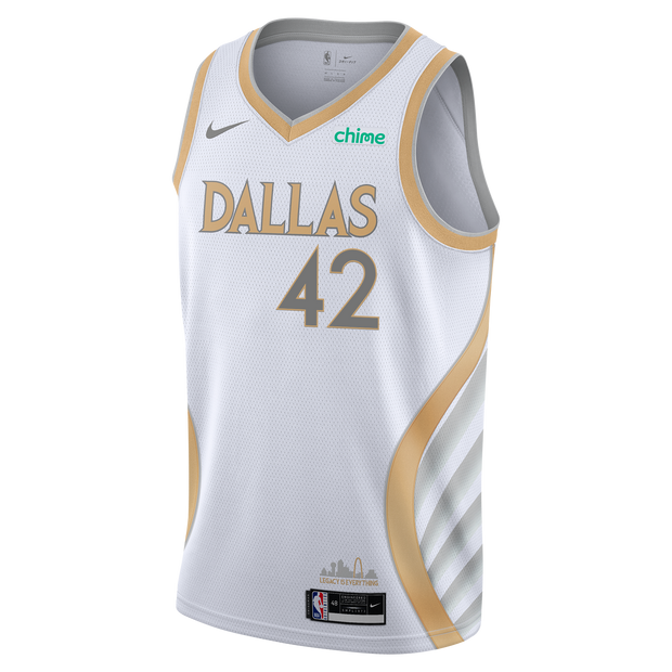 DALLAS MAVERICKS NIKE MAXI KLEBER 20-21 CITY EDITION SWINGMAN JERSEY