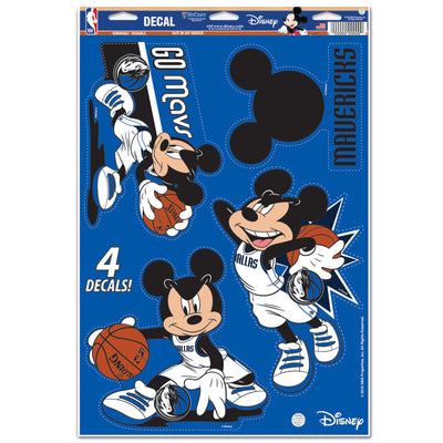 DALLAS MAVERICKS MICKEY MOUSE DECAL SHEET
