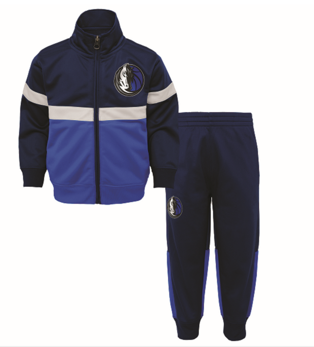 DALLAS MAVERICKS KIDS SHOT CALLER TRACK JACKET & PANT SET