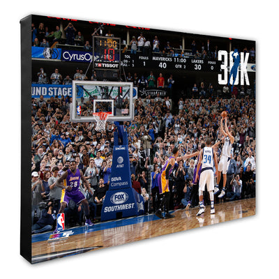 "DALLAS MAVERICKS ""30K"" DIRK NOWITZKI CANVAS"