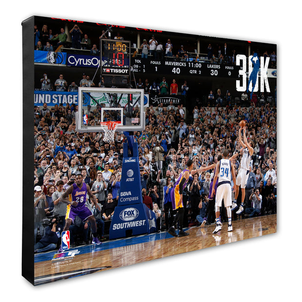 DALLAS MAVERICKS '30K' DIRK NOWITZKI CANVAS