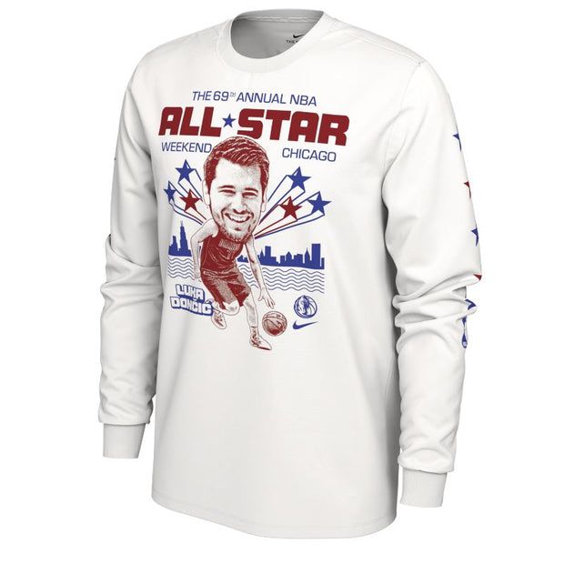 DALLAS MAVERICKS LUKA DONCIC ALL-STAR 2020 LONG SLEEVE TEE