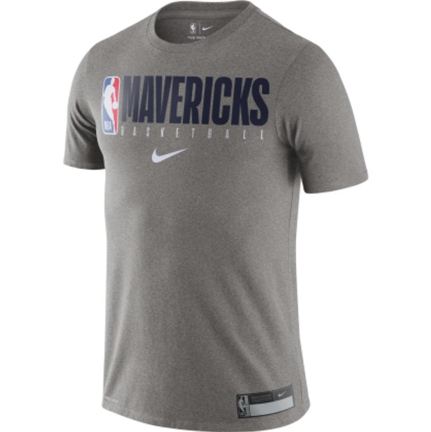 DALLAS MAVERICKS NIKE GRAY PRACTICE TEE