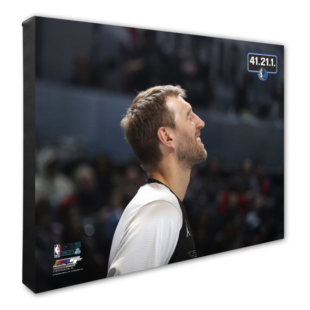 DALLAS MAVERICKS '41.21.1.' DIRK NOWITZKI CANVAS