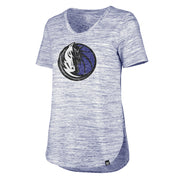 DALLAS MAVERICKS 47BRAND WOMENS HAZE SPLIT HEM TEE