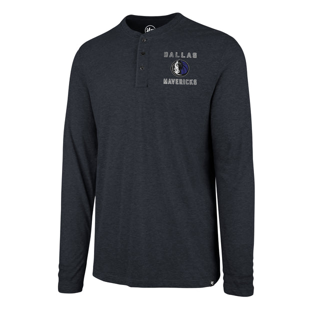 DALLAS MAVERICKS 47BRAND MATCH HENLEY LONG SLEEVE