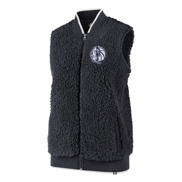 DALLAS MAVERICKS 47BRAND WOMENS FALL SHERPA VEST