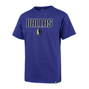 DALLAS MAVERICKS 47 BRAND YOUTH PREGAME ROYAL TEE