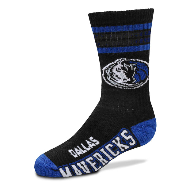 DALLAS MAVERICKS YOUTH DUECE BLACK SOCK