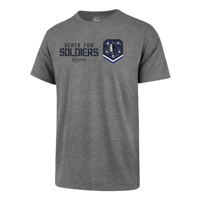 DALLAS MAVERICKS OHT SEATS FOR SOLDIERS 2019 TEE