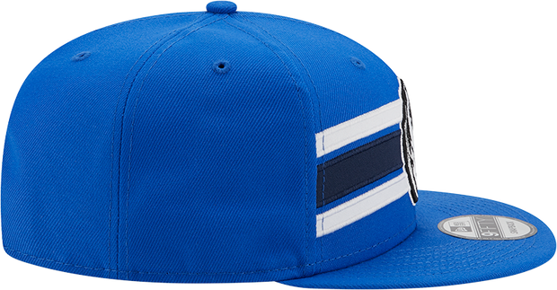 DALLAS MAVERICKS NEW ERA 9FIFTY STRIKE ROYAL SNAPBACK CAP