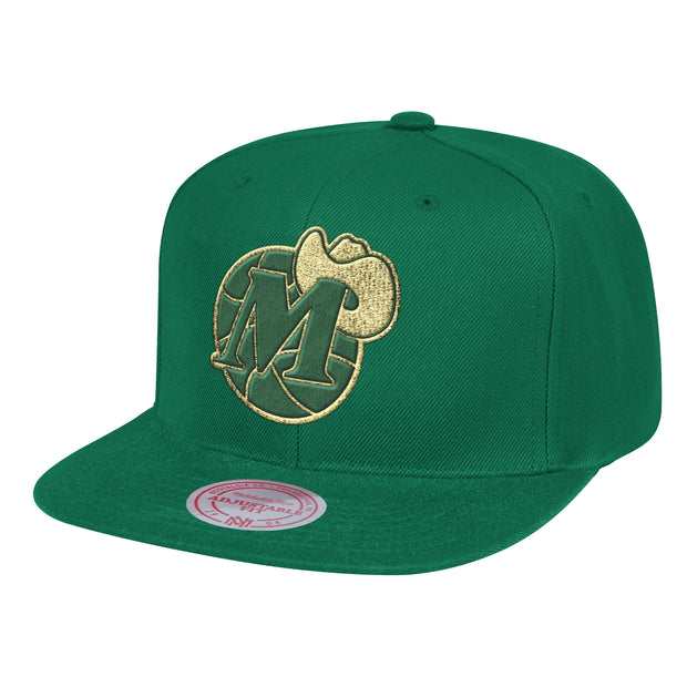 DALLAS MAVERICKS MITCHELL & NESS HWC METALIC M-HAT SNAPBACK CAP
