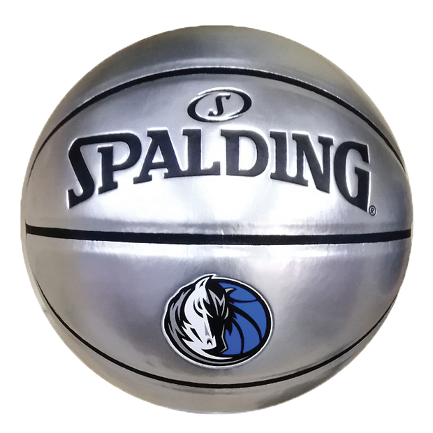 DALLAS MAVERICKS SPALDING SILVER GLOSS BASKETBALL