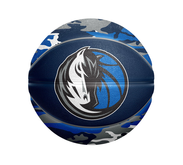 DALLAS MAVERICKS SPALDING BLUE CAMO BASKETBALL