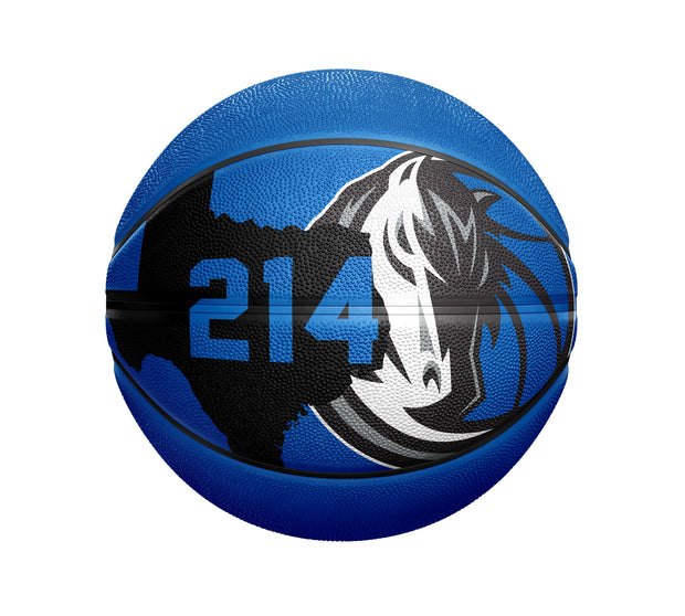 DALLAS MAVERICKS SPALDING 214 AREA CODE BALL