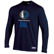DALLAS MAVERICKS UNDER ARMOUR YOUTH COMBINE LONG SLEEVE TEE (2 COLORS)