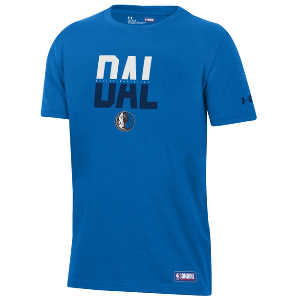 DALLAS MAVERICKS UNDER ARMOUR YOUTH COMBINE DAL CITY TEE