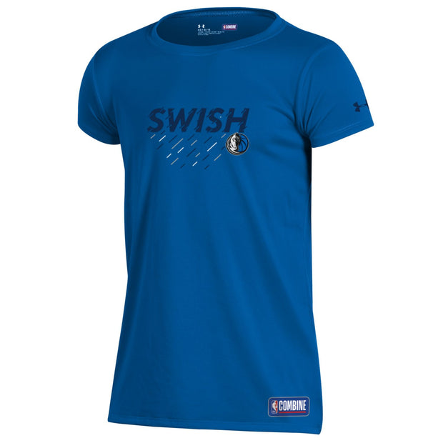 DALLAS MAVERICKS UNDER ARMOUR GIRLS COMBINE SWISH TECH TEE