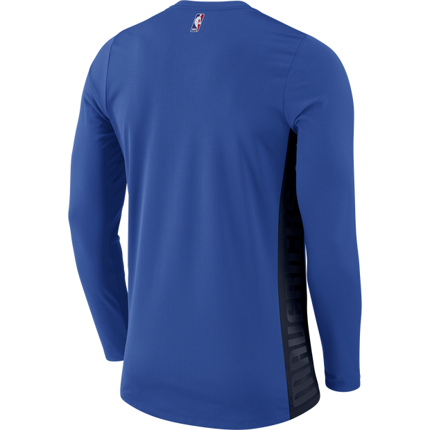 DALLAS MAVERICKS MENS NIKE ON COURT HYPER LONG SLEEVE SHOOTER