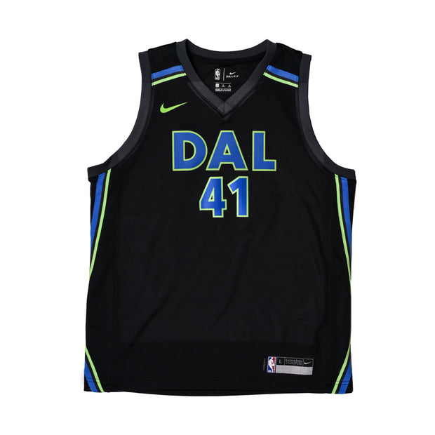DALLAS MAVERICKS DIRK NOWITZKI YOUTH CITY EDITION 2017-2018 SWINGMAN JERSEY