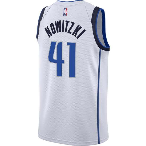 DALLAS MAVERICKS NIKE ON COURT DIRK NOWITZKI ASSOCIATION SWINGMAN WHITE JERSEY