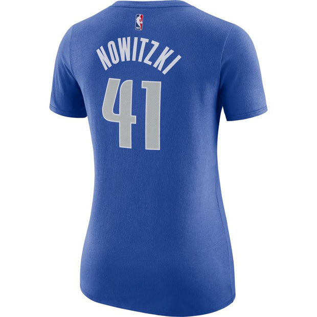 DALLAS MAVERICKS WOMENS DIRK NOWITZKI ICON NAME AND NUMBER TEE
