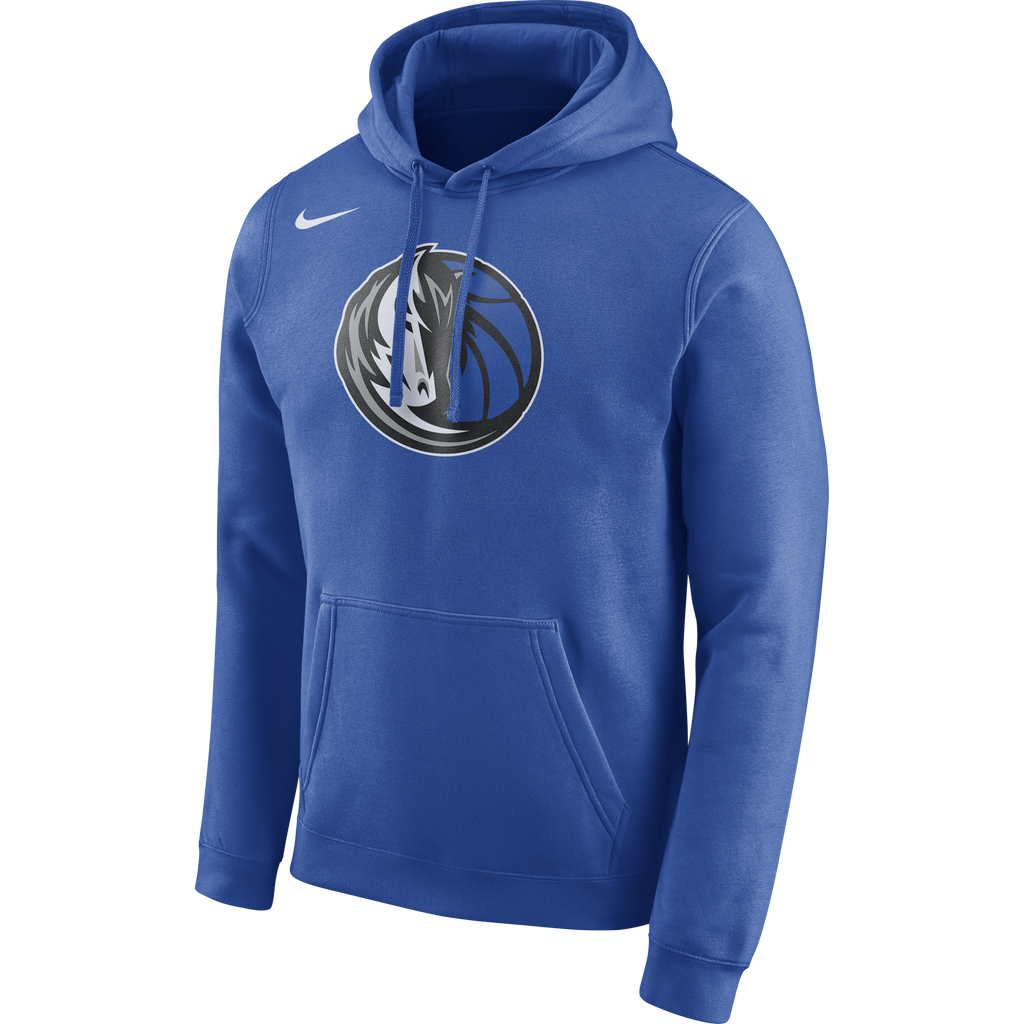 DALLAS MAVERICKS MENS NIKE LOGO CLUB HOODIE ROYAL