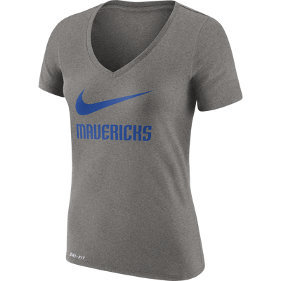 DALLAS MAVERICKS WOMENS NIKE SWOOSH LEGEND VNECK TEE