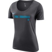 DALLAS MAVERICKS CITY EDITION 2018-2019 NIKE WOMEN TRUE MAVERICK ANTHRACITE TEE