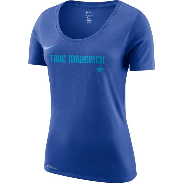 DALLAS MAVERICKS CITY EDITION 2018-2019 NIKE WOMEN TRUE MAVERICK ROYAL TEE