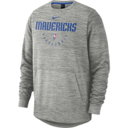 DALLAS MAVERICKS NIKE SPOTLIGHT L/S CREW GREY