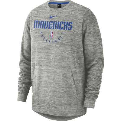 DALLAS MAVERICKS NIKE WOMENS SPOTLIGHT L/S CREW GREY