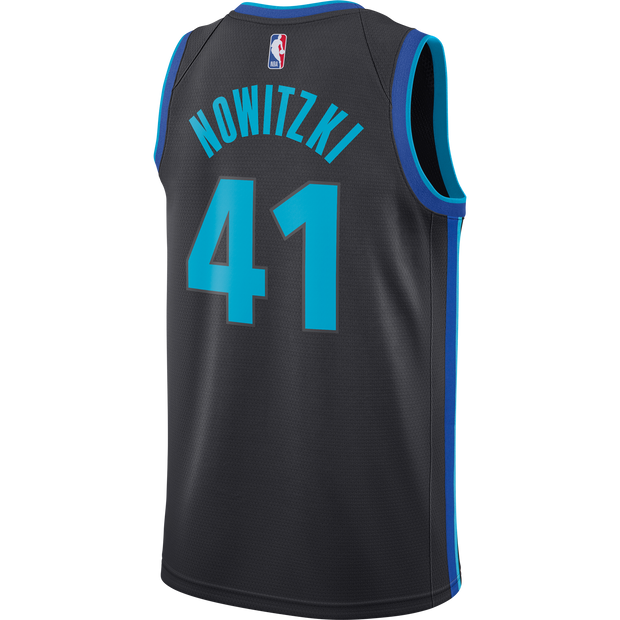 DALLAS MAVERICKS DIRK NOWITZKI NIKE CITY EDITION 2018-2019 SWINGMAN JERSEY