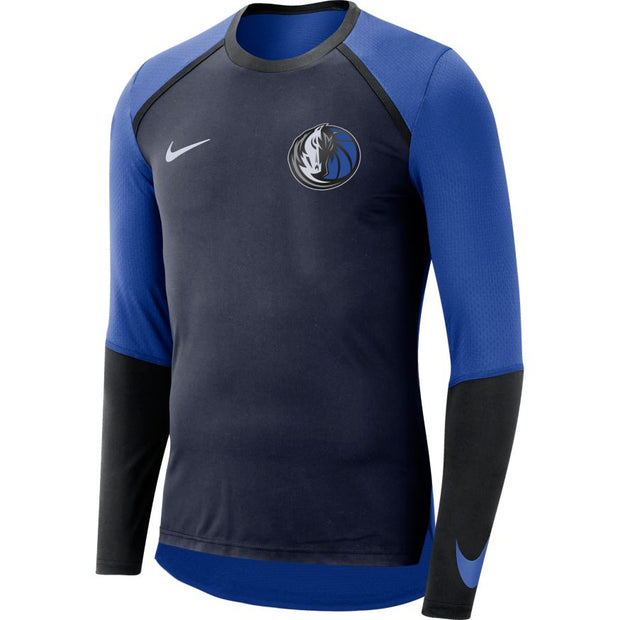 DALLAS MAVERICKS NIKE ON COURT L/S ELITE SHOOTER DRI FIT TOP