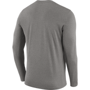 DALLAS MAVERICKS NIKE PRACTICE GRAY LONG SLEEVE TEE