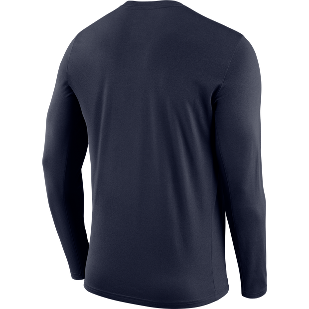 DALLAS MAVERICKS NIKE PRACTICE LONG SLEEVE NAVY TEE