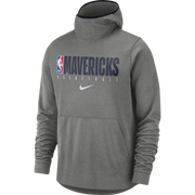 DALLAS MAVERICKS NIKE SPOTLIGHT GRAY PRACTICE HOODIE