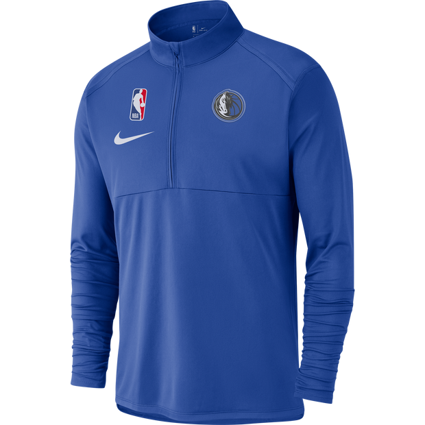 DALLAS MAVERICKS NIKE ELEMENT ROYAL 1/4 ZIP TOP