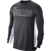 DALLAS MAVERICKS NIKE ON COURT 2019 ANTHRACITE LONG SLEEVE SHOOTER