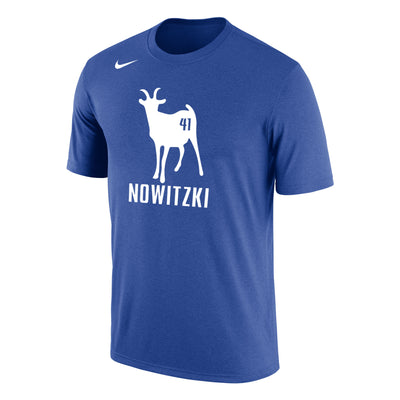 DALLAS MAVERICKS 2018 NIKE NOWITZKI GOAT 41 TEE