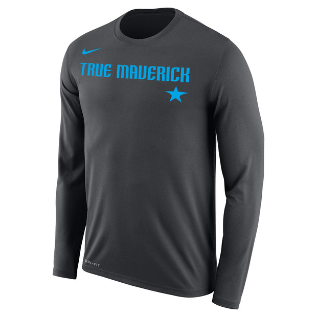 DALLAS MAVERICKS CITY EDITION 2018-2019 LEGEND 2.0 TRUE MAVERICK L/S TEE
