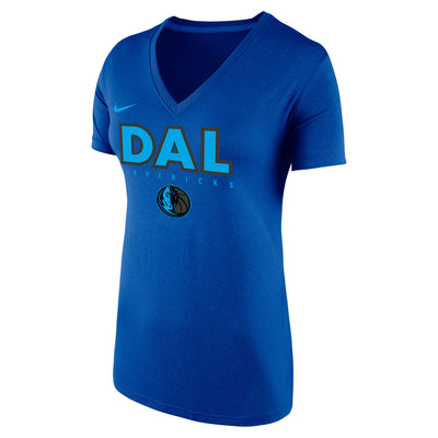 DALLAS MAVERICKS CITY EDITION 2018-2019 WOMENS DAL V-NECK TEE