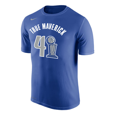 DALLAS MAVERICKS DIRK TROPHY TRUMAV NAME & NUMBER TEE