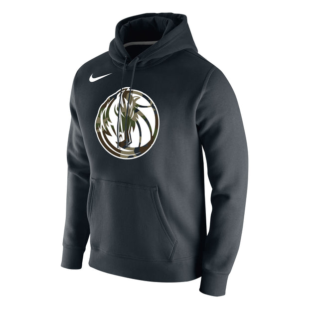 DALLAS MAVERICKS NIKE CAMO BLACK FLEECE HOODIE