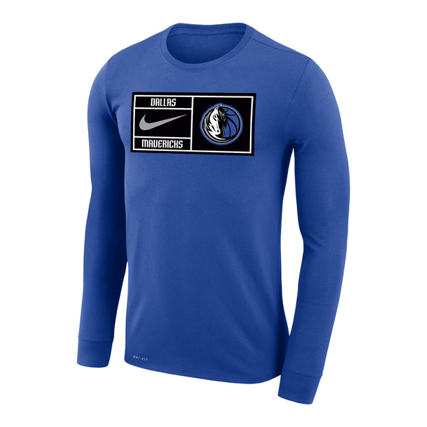 DALLAS MAVERICKS NIKE BUMPER LONG SLEEVE LEGEND TEE