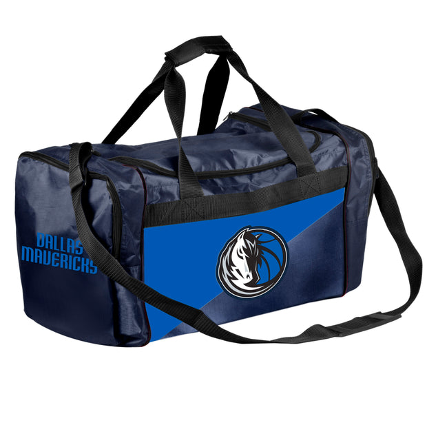 DALLAS MAVERICKS HORSE HEAD 2 TONE DUFFLE BAG