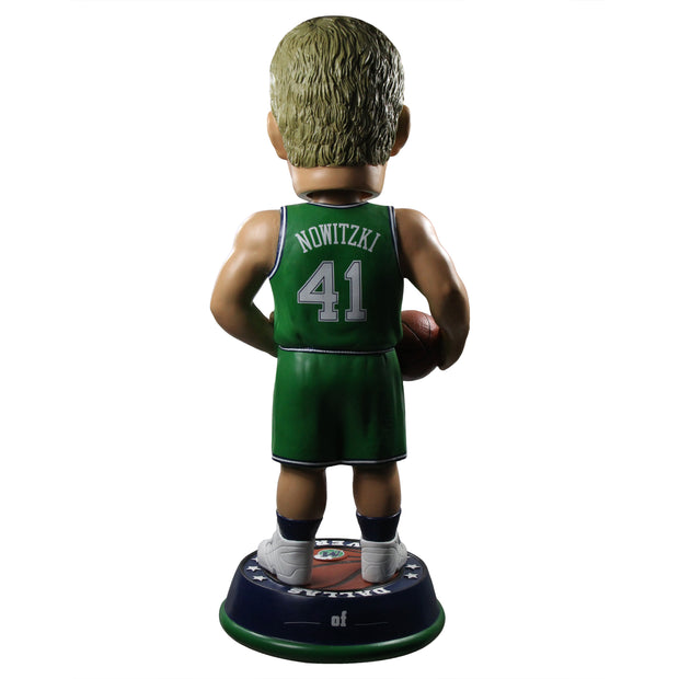 DALLAS MAVERICKS DIRK NOWITZKI 3' GREEN HWC BOBBLEHEAD