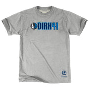 DALLAS MAVERICKS MITCHELL AND NESS HORSE HEAD DIRK 41 TEE
