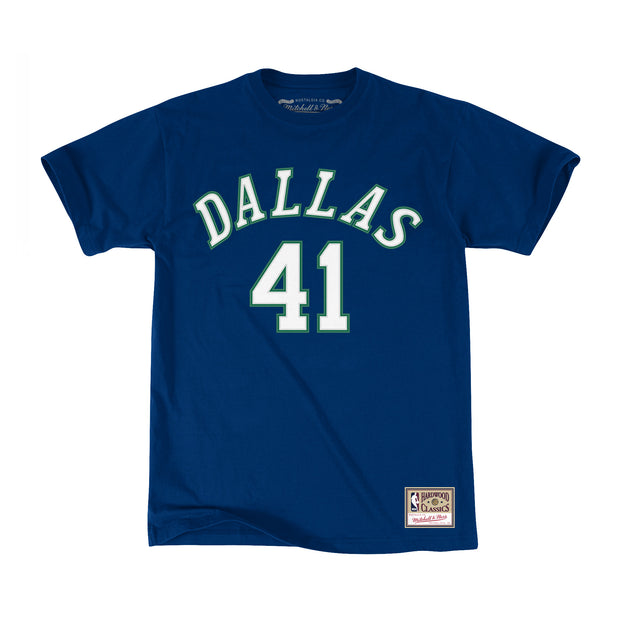 DALLAS MAVERICKS HWC DIRK NAME & NUMBER TEE
